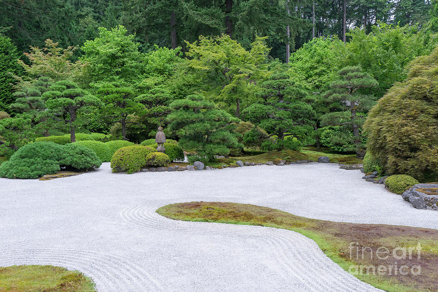 Wingsdomain Photograph   Japanese Zen Rock Garden At Portland Japanese  Garden Portland Oregon Dsc6634 By Wingsdomain