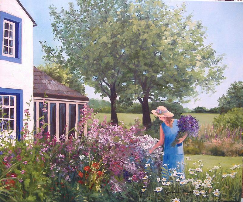 Jardin De Reve Painting By Jacqueline Brochu