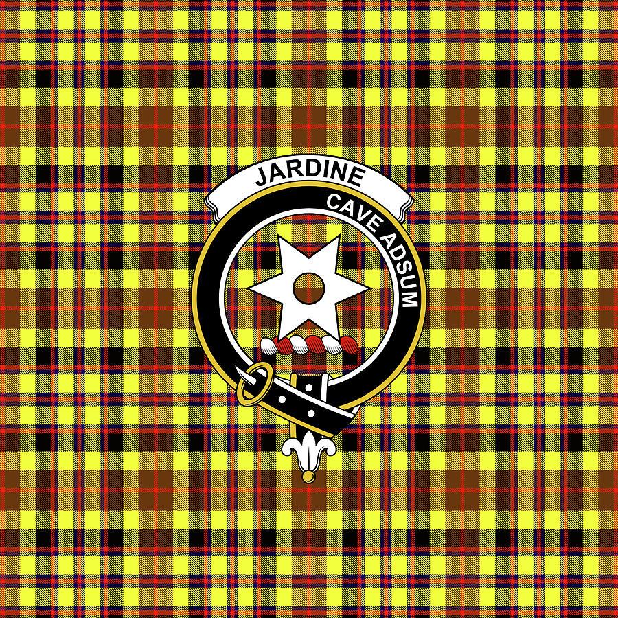 Jardine Tartan Clan Badge Weekender Tote Bag K1 Mixed Media ...