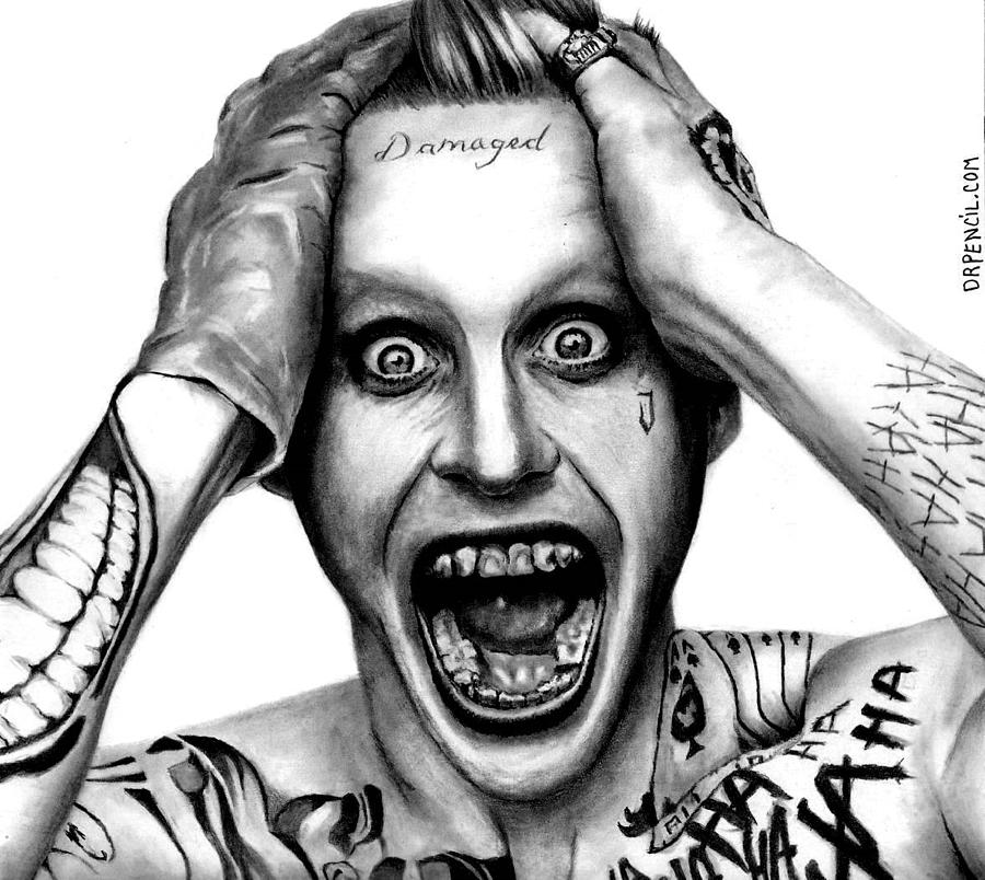 Jared Leto Drawing - Jared Leto As The Joker by Rick Fortson