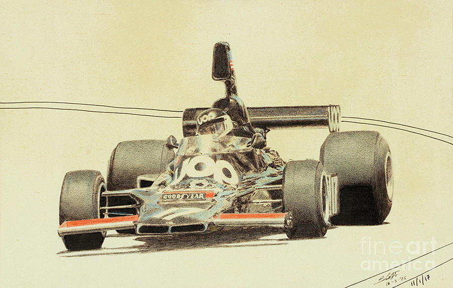 Jean-Pierre Jarier Shadow DN5 by Lorenzo Benetton