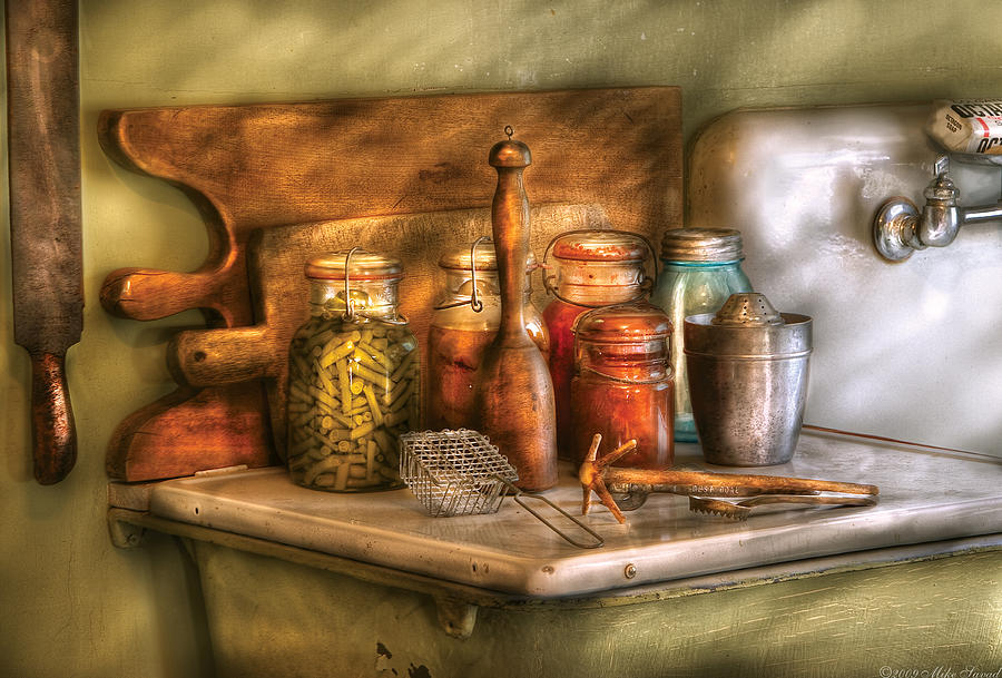 Savad Photograph - Jars - The Process Of Canning by Mike Savad