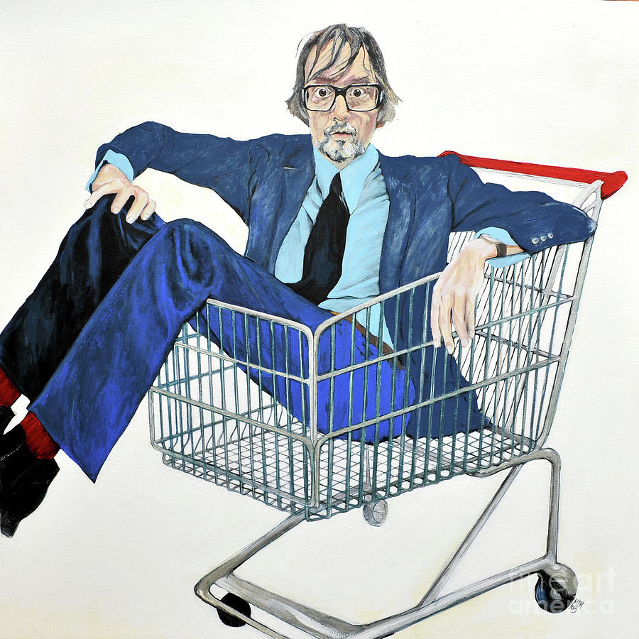 Jarvis Painting - Jarvis Cocker off Yer Trolley by Michelle Deyna-Hayward