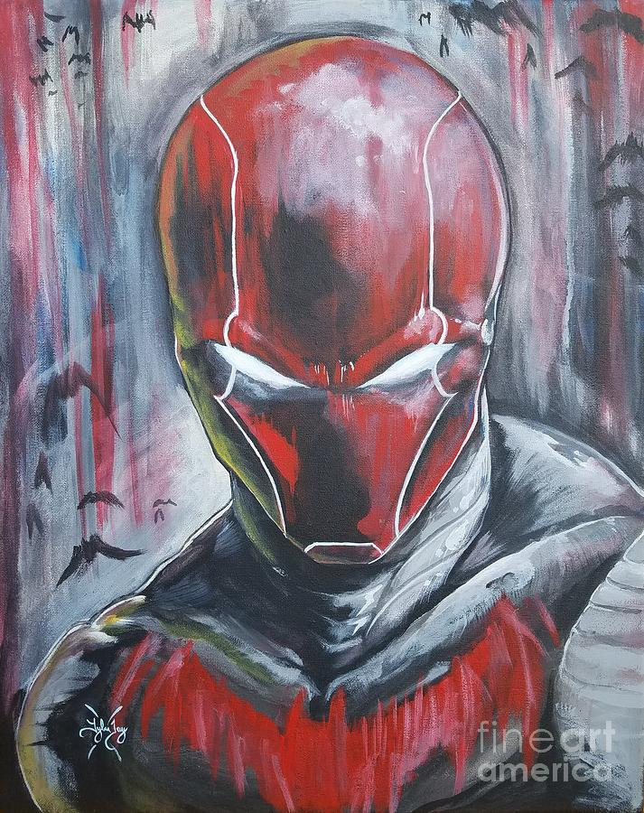 jason todd as red hood painting by tyler haddox