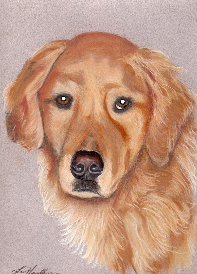 Dog Painting - Jasper by Linda Henthorn