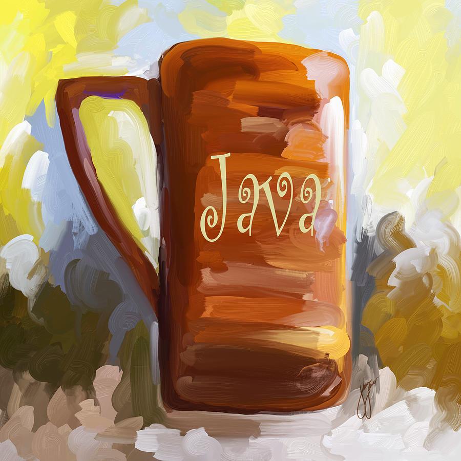 Coffee Painting - Java Coffee Cup by Jai Johnson