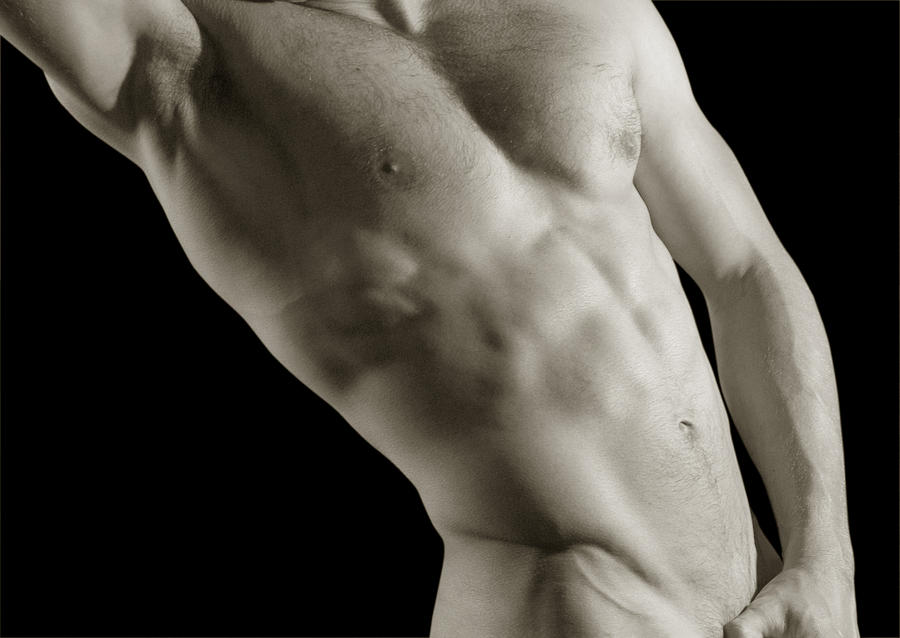 Nude Photographs Photograph - Javier Torso 4 by Dave Milstead