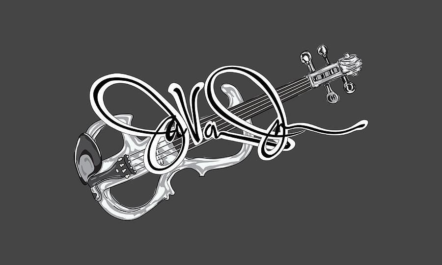 Violin Digital Art - Javonne Autograph by Art the Artist Abdon