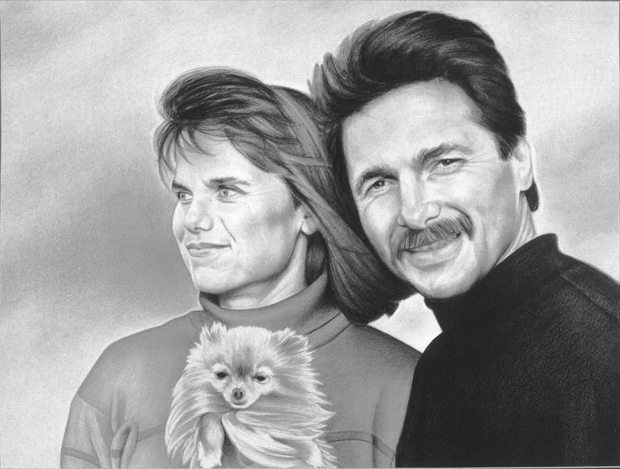 Portrait Drawing - Jay and Tamie by Van Cordle