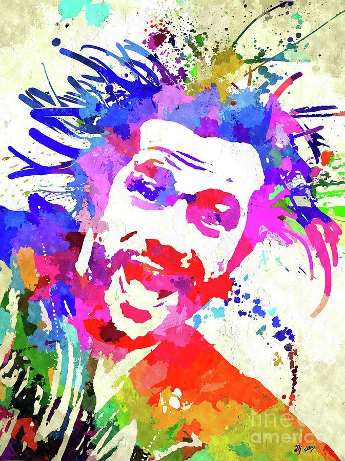 Vintage Mixed Media - Jay Kay Jamiroquai by Daniel Janda