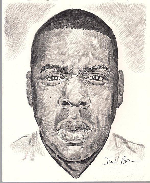 Jay-z Drawing by Darryl Barnes