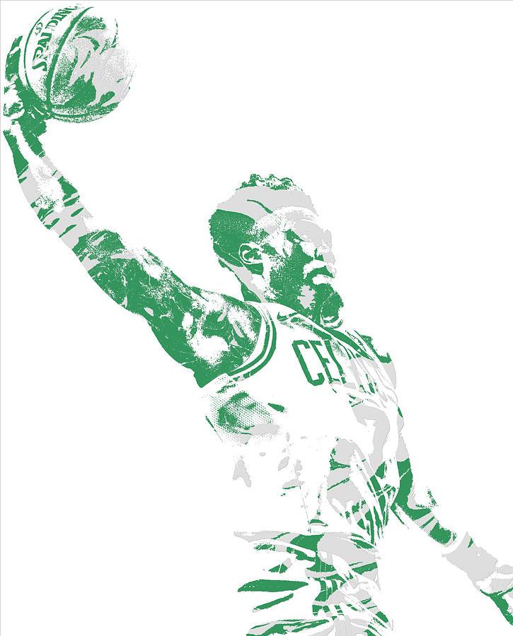 Celtics Mixed Media - Jaylen Brown Boston Celtics Pixel Art 11 by Joe Hamilton