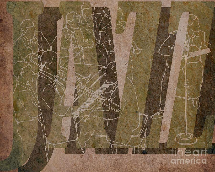 Trumpet Drawing - Jazz 34 Duke Ellington - Brown by Drawspots Illustrations