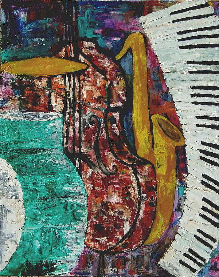 Jazz Painting - Jazz by Andrea Vazquez-Davidson