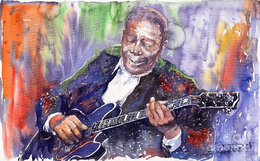 Jazz Painting - Jazz B B King 06 by Yuriy Shevchuk