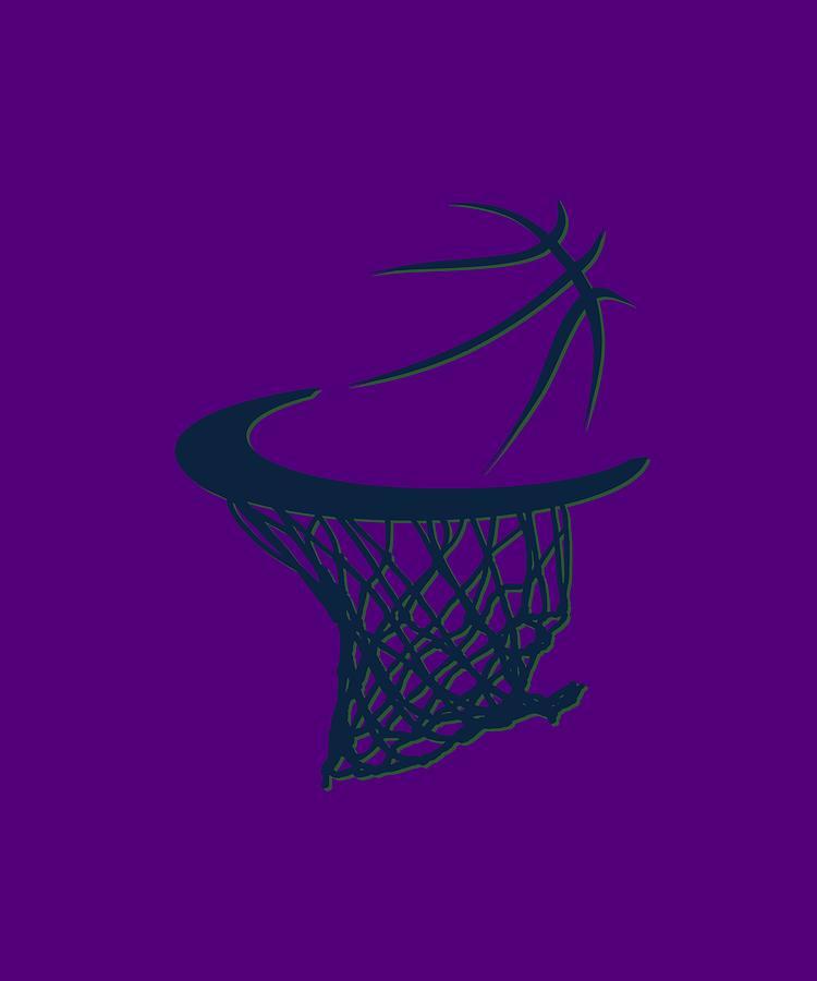 Jazz Photograph - Jazz Basketball Hoop by Joe Hamilton