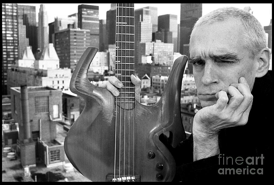 Jazz Photograph - Jazz Bass Cityscape by Enid Farber