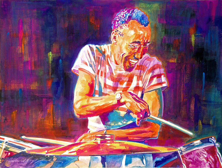 Jazz Painting Painting - Jazz Beat by David Lloyd Glover