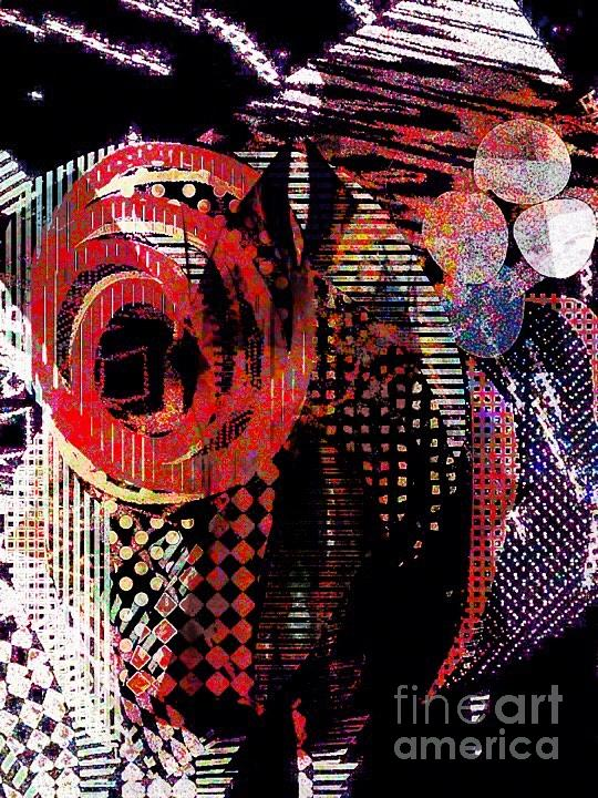 Red Digital Art - Jazz by Cooky Goldblatt