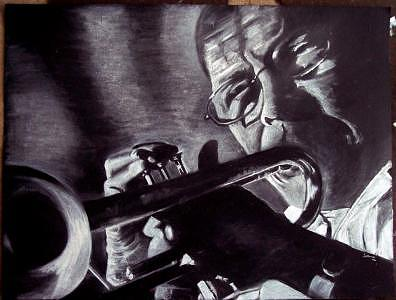 Jazz Eddie Henderson Drawing by Joshua Morris