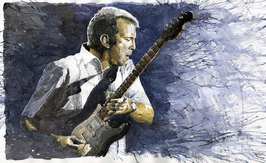 Eric Clapton Painting - Jazz Eric Clapton 1 by Yuriy Shevchuk