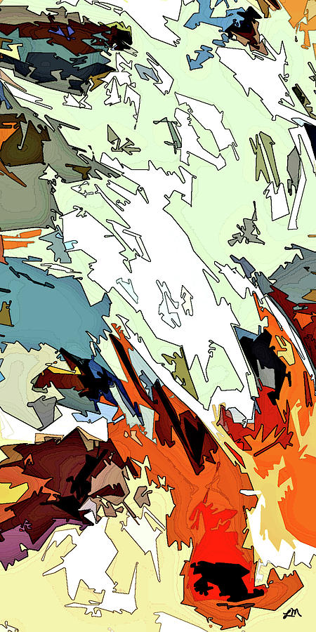 Abstract Digital Art - Jazz Flare by Linda Mears