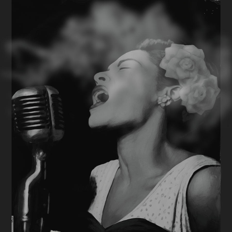 Billie Holiday Digital Art - Jazz Great Billie Holiday by Michael Chatman
