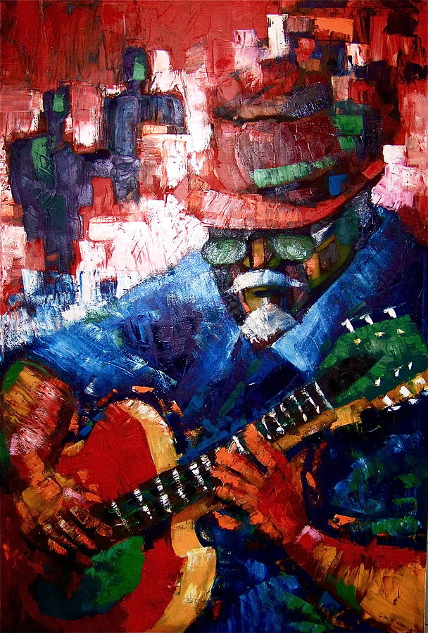 Music Painting - Jazz Guitar Player by Pedro Brull