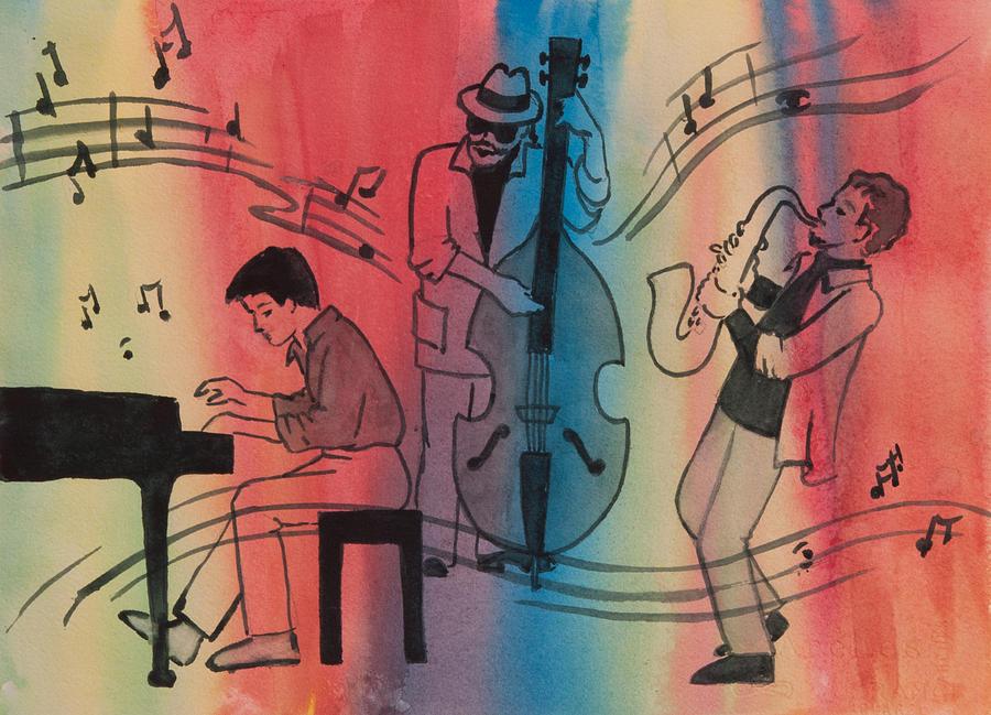 Jazz Trio II by Heidi E Nelson