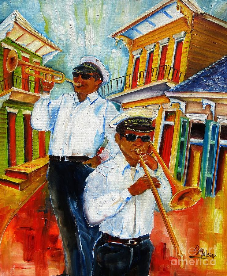 New Orleans Painting - Jazz In The Treme by Diane Millsap