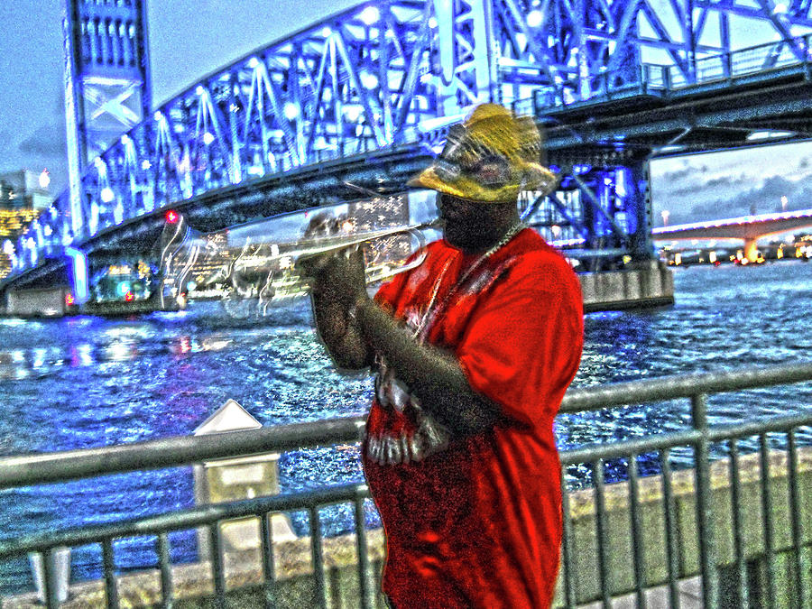 Jazz Man by the Bridge by Joe Roache