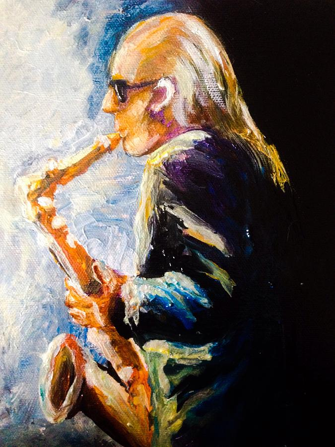 Jazz Man Painting by Karen  Ferrand Carroll