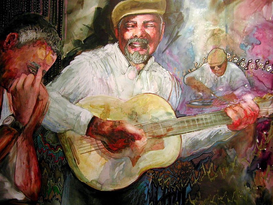 Music Painting - Jazz Men In Phoenix by Wendy Hill