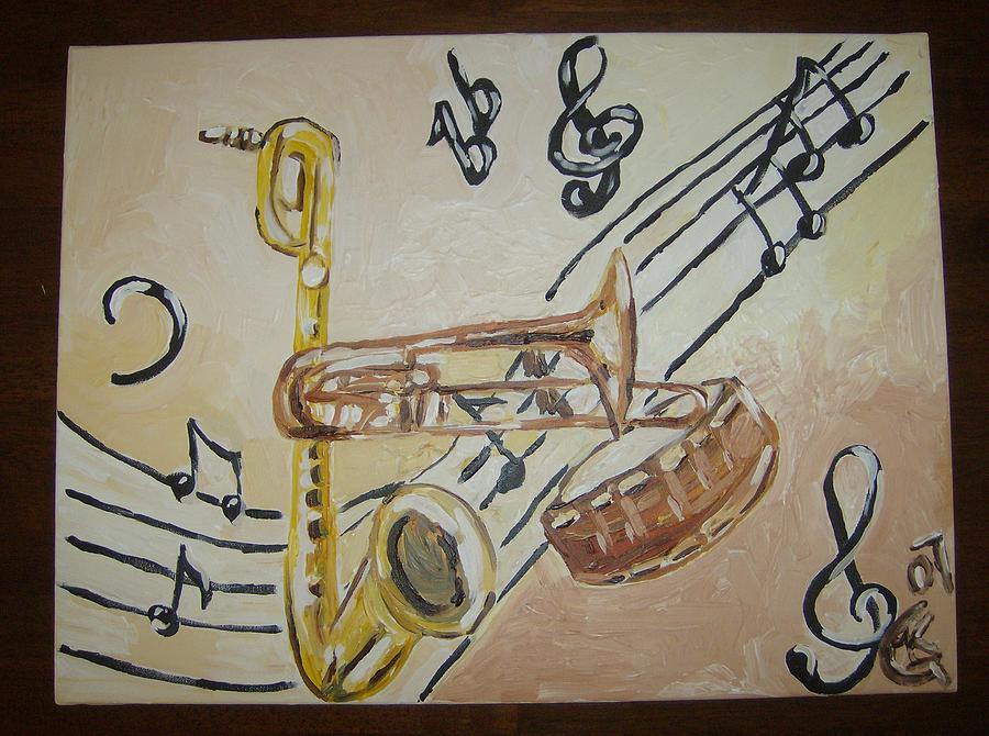 Jazz Painting - Jazz by Michaela Gilt