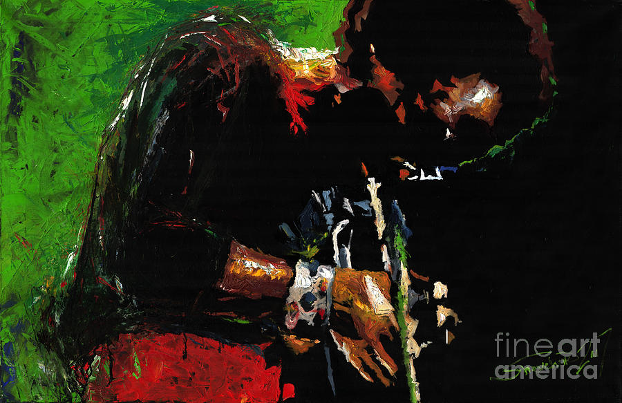 Jazz Painting - Jazz Miles Davis 1 by Yuriy  Shevchuk