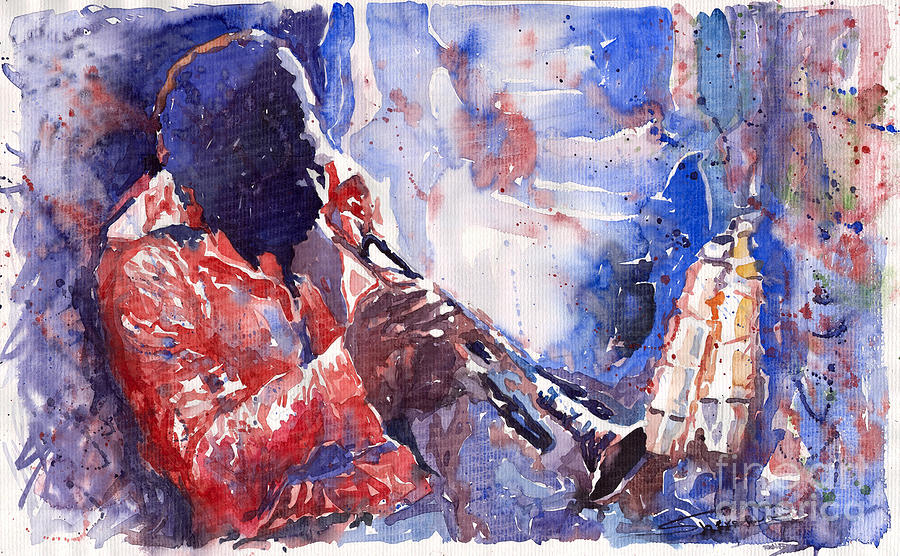 Jazz Painting - Jazz Miles Davis 15 by Yuriy Shevchuk