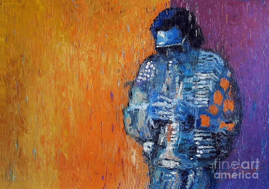 Jazz Painting - Jazz Miles Davis 2 by Yuriy  Shevchuk