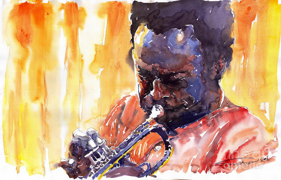 Jazz Miles Davis 8 Painting by Yuriy Shevchuk