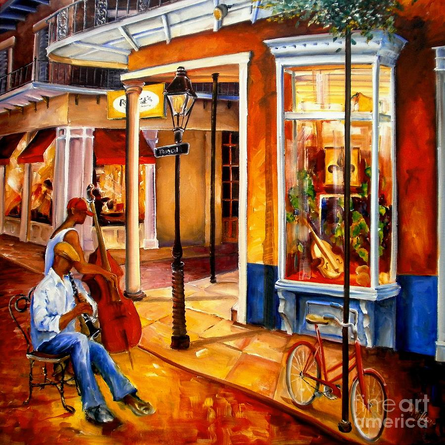 New Orleans Painting - Jazz On Royal Street by Diane Millsap