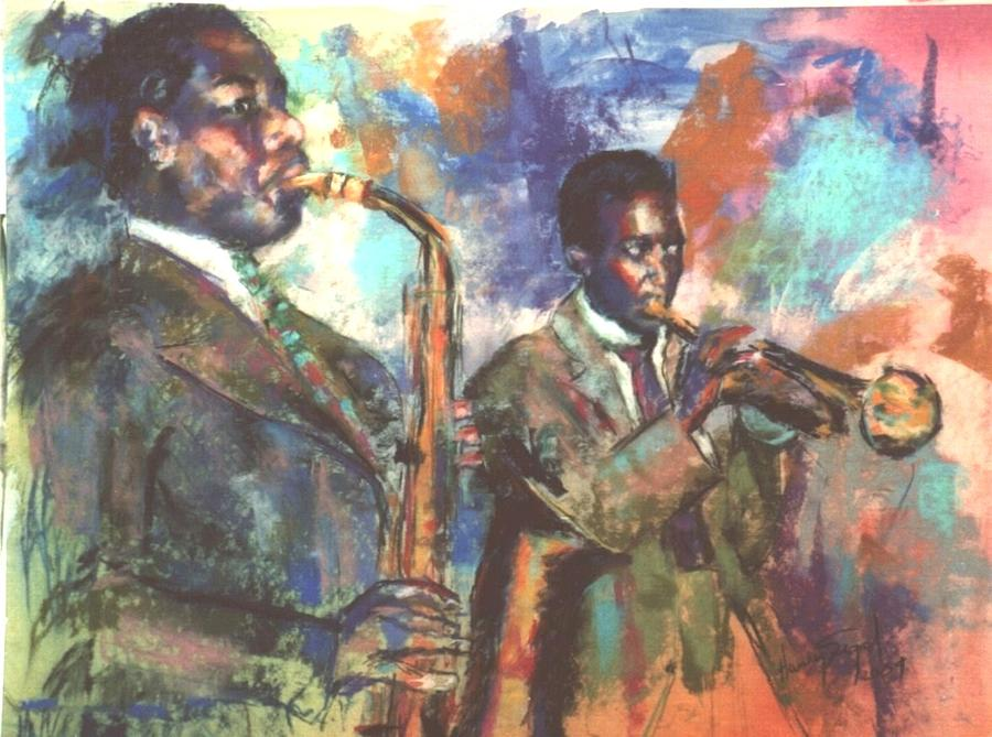 Portrait Painting - Jazz Painting 1 by Harvey Segal