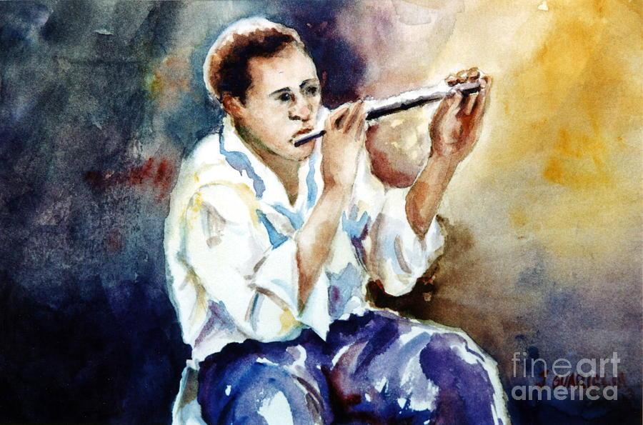 Portrait Painting - Jazz Player by Joyce A Guariglia