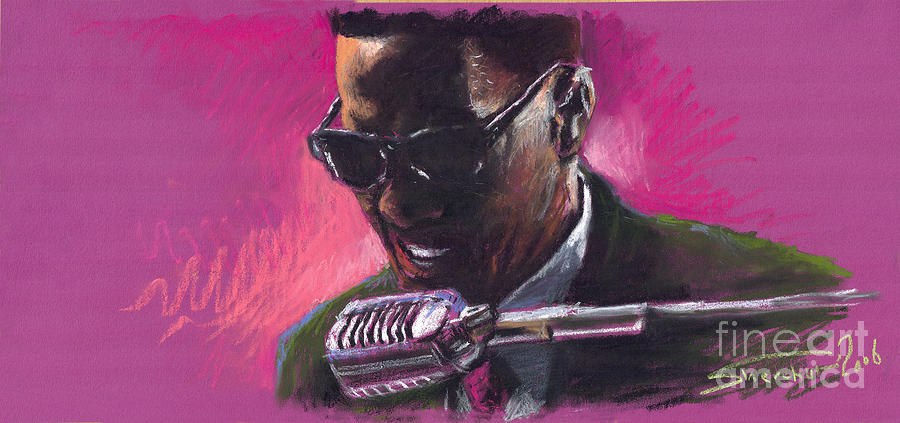Jazz Painting - Jazz. Ray Charles.1. by Yuriy  Shevchuk