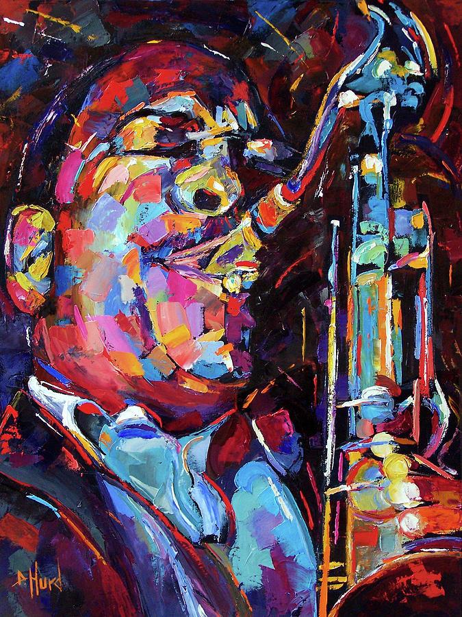 John Coltrane Painting - Jazz Trane by Debra Hurd