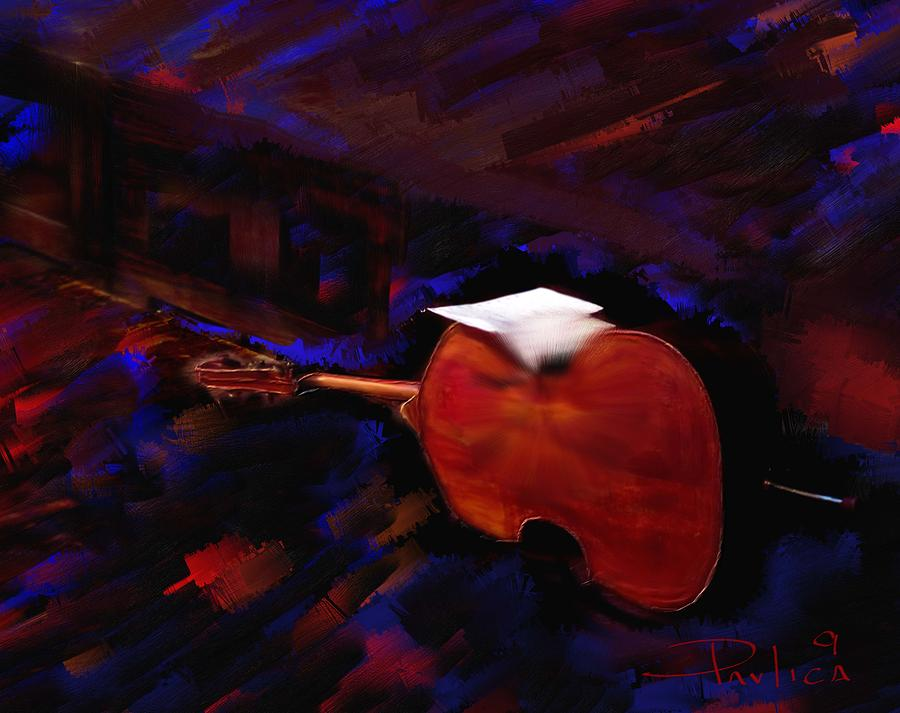Music Digital Art - Jazz Tribute Louis Armstrong by Donald Pavlica