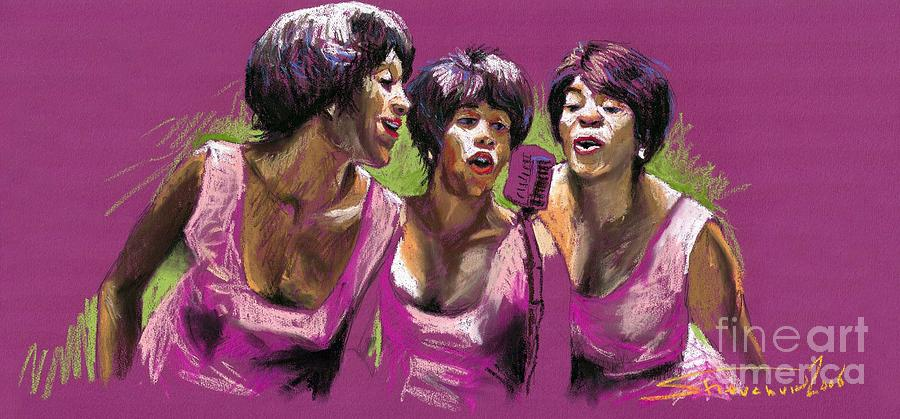Jazz Painting - Jazz Trio by Yuriy  Shevchuk