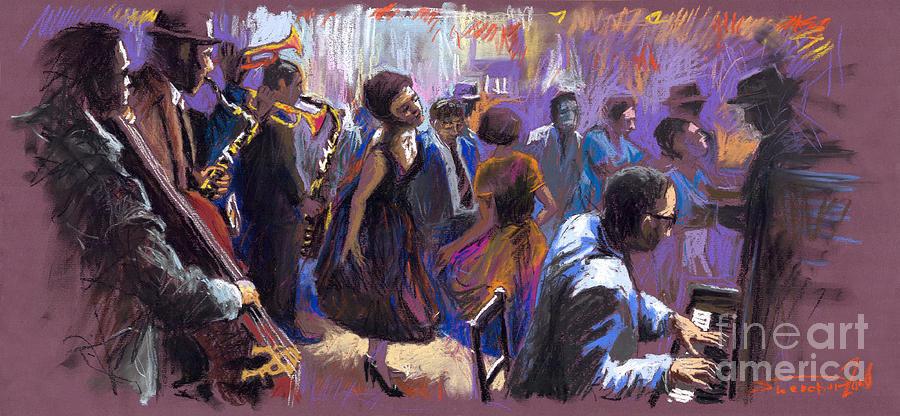 Jazz.pastel Painting - Jazz by Yuriy  Shevchuk