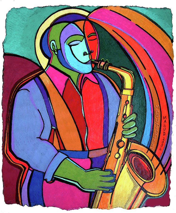 Jazz Mixed Media - Jazzin #3 by Bryan Masud McDowell