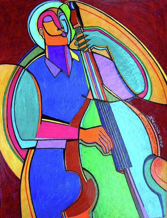 Jazz Mixed Media - Jazzin #5 by Bryan Masud McDowell