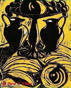 Print Painting - Jazzman by David G Wilson