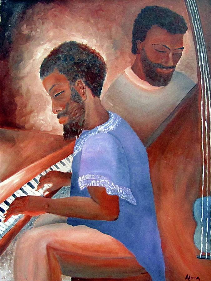 Portrait Painting - Jazzmen by Alima Newton